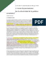 Monetarismo Versus Keynesianismo