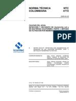 NTC4772 Deteccion E-coli en Aguas