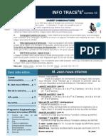 Info-TRACEESS Numéro 32, le 27 avril 2015
