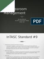 mitchell, john, educ 240, classroom management philosophy