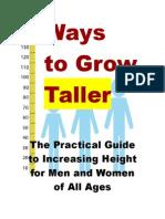 Ways to Grow Taller