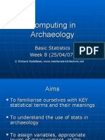 introduction to using statistics in Archaeology Part 1
