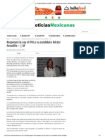 Respetará la Ley el PRI y su candidato Héctor Astudillo 23-04-15