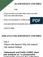 2014 Ppp Unit 4 Job Analysis,Job Design and Hris