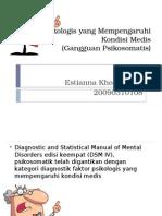 Faktor Psikologis Yang Mempengaruhi Kondisi Medis