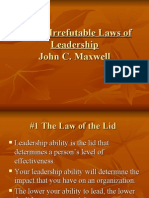 Laws of Leadership - John C. Maxwell