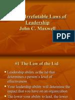 Laws of Leadership - John C. Maxwell