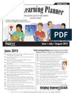 Summer 2015 - Daily Learning Planner - Middle School