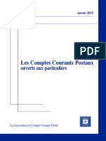 Convention de Compte CCP La Poste France