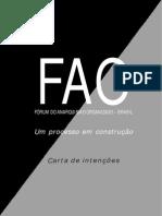 Carta de Intenções do FAO
