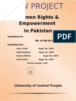 Law Project women rights in pakistan