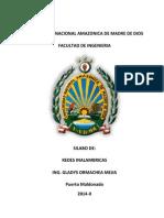 UNAMAD Redes Inalambricas