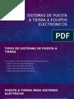 Sistemas de Puesta a Tierra a Equipos Electronicos