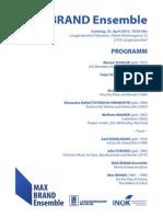 Programm MAX BRAND Tage 2015