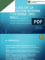 Análisis de La Situación Interna y Externa Calcinados Calca, c.a.