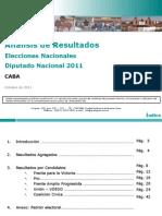 Analisis Post Electoral - Cdad Autonoma de Buenos Aires - Elecciones Diputado Nacional