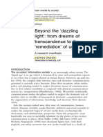 Beyond the 'Dazzling Light' - From Dreams of Transcendence to the 'Remediation' of Urban Life