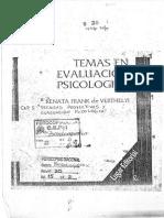 FRANK de VERTHELY (1992) Temas de Evaluación Psicológica. Cap. I