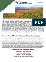 Fall Newsletter 2009