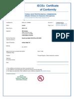 Iecex certificate Sound Level Meter