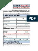 Boarding Online Form