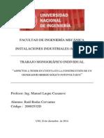 Monografía Individual Instalaciones Industriales