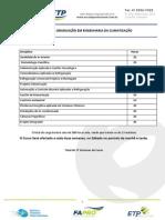 Matriz Curricular - Pós Graduação Em Engenharia Da Climatização
