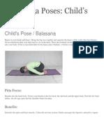 Pitta Yoga Poses