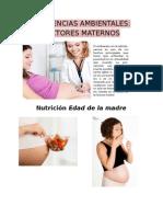Influencias Ambientales Factores Materno