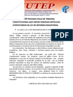 SUTEP - Nota de Prensa FALLO TC