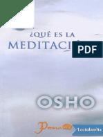 _Que Es La Meditacion_ - Osho