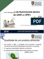 Asa Aula 01 Atribuicoes Do Nutricionista Em Uan e Upr