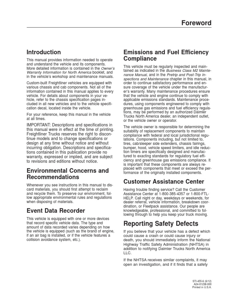 2007 Freightliner M2 Wiring Diagram Copy - Manual De Conduccion Camion Freightliner Business Class M Exhaust Gas Emission Standard - 2007 Freightliner M2 Wiring Diagram Copy