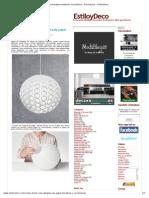 Cómo hacer una lámpara de papel moderna y económica - Decoracion - EstiloyDeco