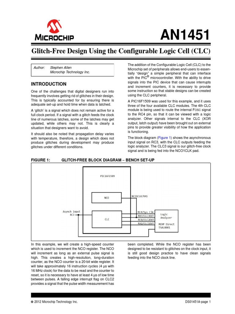 Glitch Free Design Using The Configurable Logic Cell Clc Pic Analyzer Diagram Microcontroller Tort
