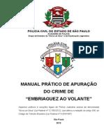 Manual Pratico de Apuracao Do Crime de Embriaguez Ao Volante-Acadepol-PCSP