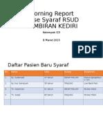 Morning Report Syaraf 10 Maret