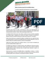 Presenta Maloro Acosta Proyecto de Movilidad Urbana 26-04-15