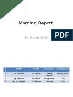 Morning Report 13 Maret