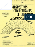 Perspectives Conjoncturales Jugements Horizon 1989