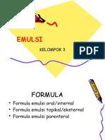 Formulasi emulsi