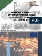 Construcción Tunel Linea 12
