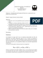 """Práctica 2. """"Construcción de Escalas de Potencial y su aplicación a la predicción de reacciones."""""""