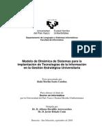 Modelo de Dinámica de Sistemas para la implantación de Tecnologías de la Información en la Gestión Estratégica Universitaria
