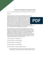 """""""Enfoques Didácticos Para La Enseñanza de La Expresión Escrita"""","""