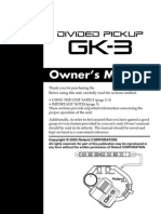 Roland Gk-3 Guitar Pickup Manual