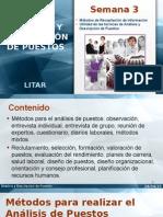Analisis y Descripcion de Puestos Metodos de Investigacion y Utilidad