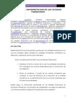 Analisis e Interpretacion de Los Estados Financieros Final