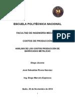 Proyecto Costos de Producción (Barricadas Metálicas)