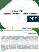 Oficina 21 - Licitacoes e Contratos - Temas Avancados 2014